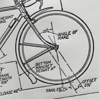 'The various measurements relating to a bicycle'