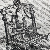 19th century Albion printing press