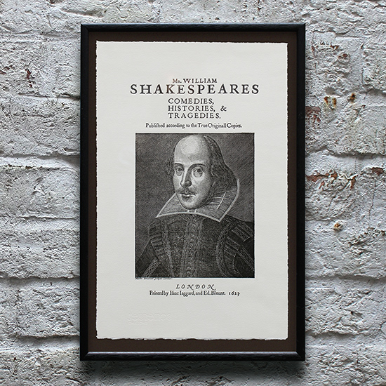 Shakespeare (2nd Folio title page)