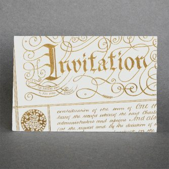 Invitation (gold)